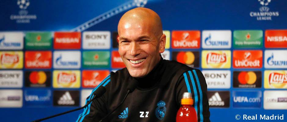 CHAMPIONS  OCTAVOS (VUELTA) 06/03/2018 PSG REAL MADRID Zidane_3_n0y6929