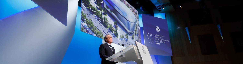 """Florentino Pérez  """"El Santiago Bernabéu del siglo XXI seguirá siendo el  escenario de las emociones que marcará el futuro del Real Madrid"""" 33d7a10d1f5d6"""