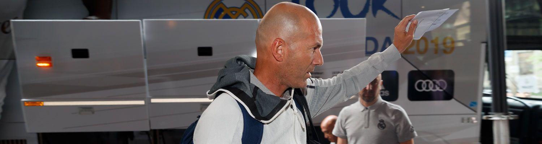 Llegada del Real Madrid a Montreal