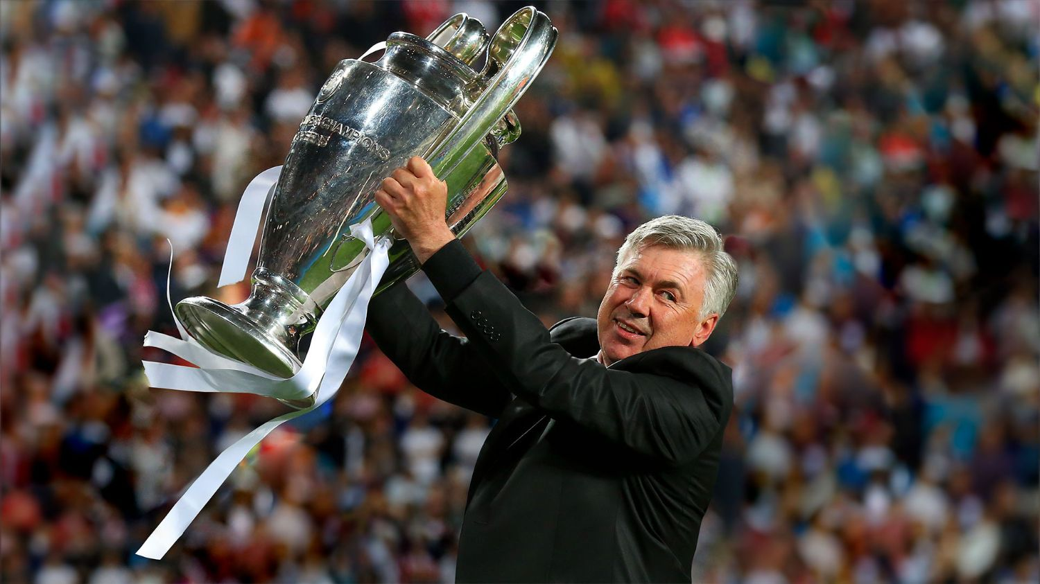 Carlo Ancelotti, the coach who delivered the club's 10th European Cup crown   Real Madrid CF